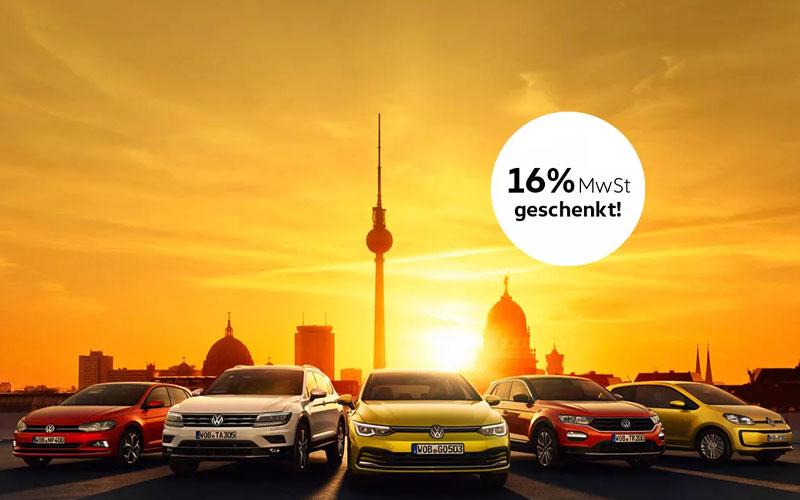VW Aktion MwSt geschenkt - Autohaus SENNE